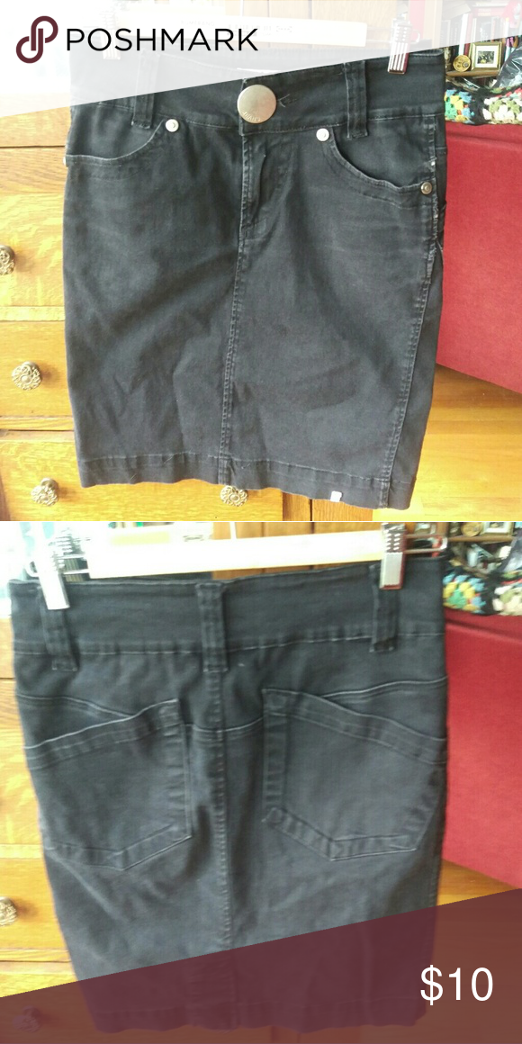 213ca767ff9513 Black denim pencil skirt Black high waisted denim skirt. Pencil skirt  shape. *10% off on bundles! Offers on single items always considered* Goth  emo punk ...