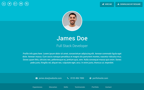 Sphere  ResumeCv Bootstrap   Resume Cv Material Design And