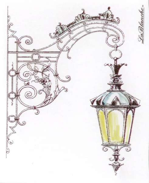Lablanche Hanging Street Lamp Street Lamp Drawings Coloring Pages