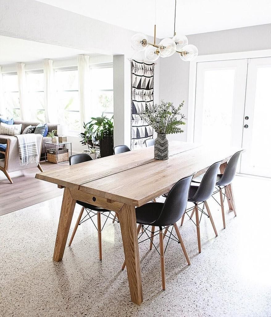 Madera Oak Dining Table Extendable With Images Scandinavian Dining Room Simple Dining Table Modern Dining Table