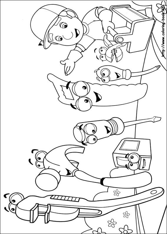 find this pin and more on coloring handymanny yomom coloring pages - Handy Manny Colouring Pages