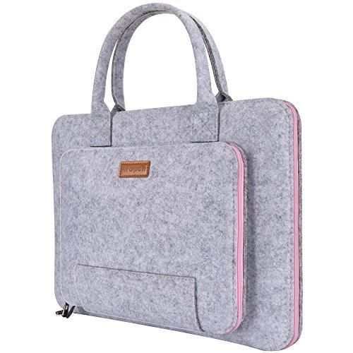 Ropch Inch Laptop Sleeve Felt Notebook Computer Case Bag Pouch With Handle