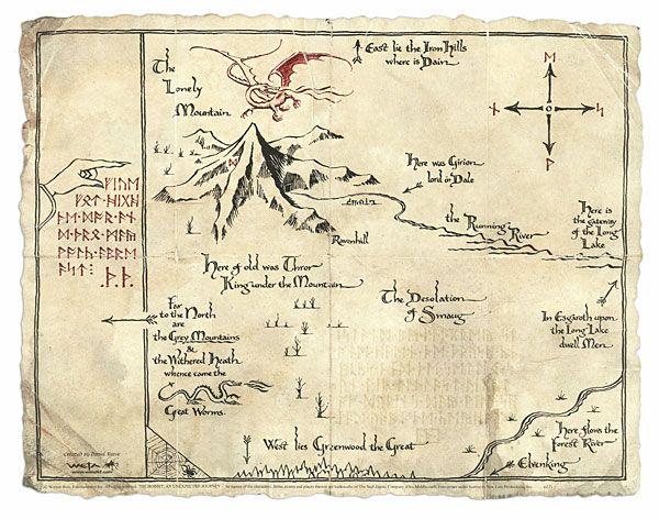 Resultado de imagen de hobbit map