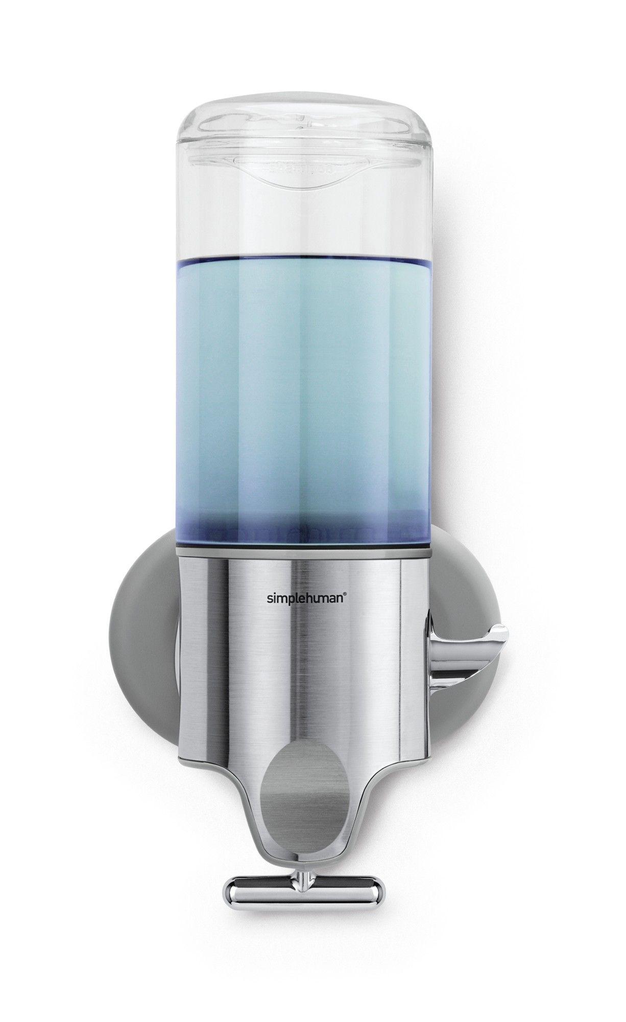 Single Wall Mount Soap Pump 15 Fl Oz Stainless Steel