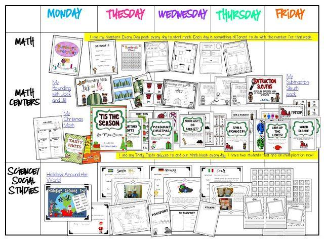 Christmas Visual Plans - week 1 and some freebies!