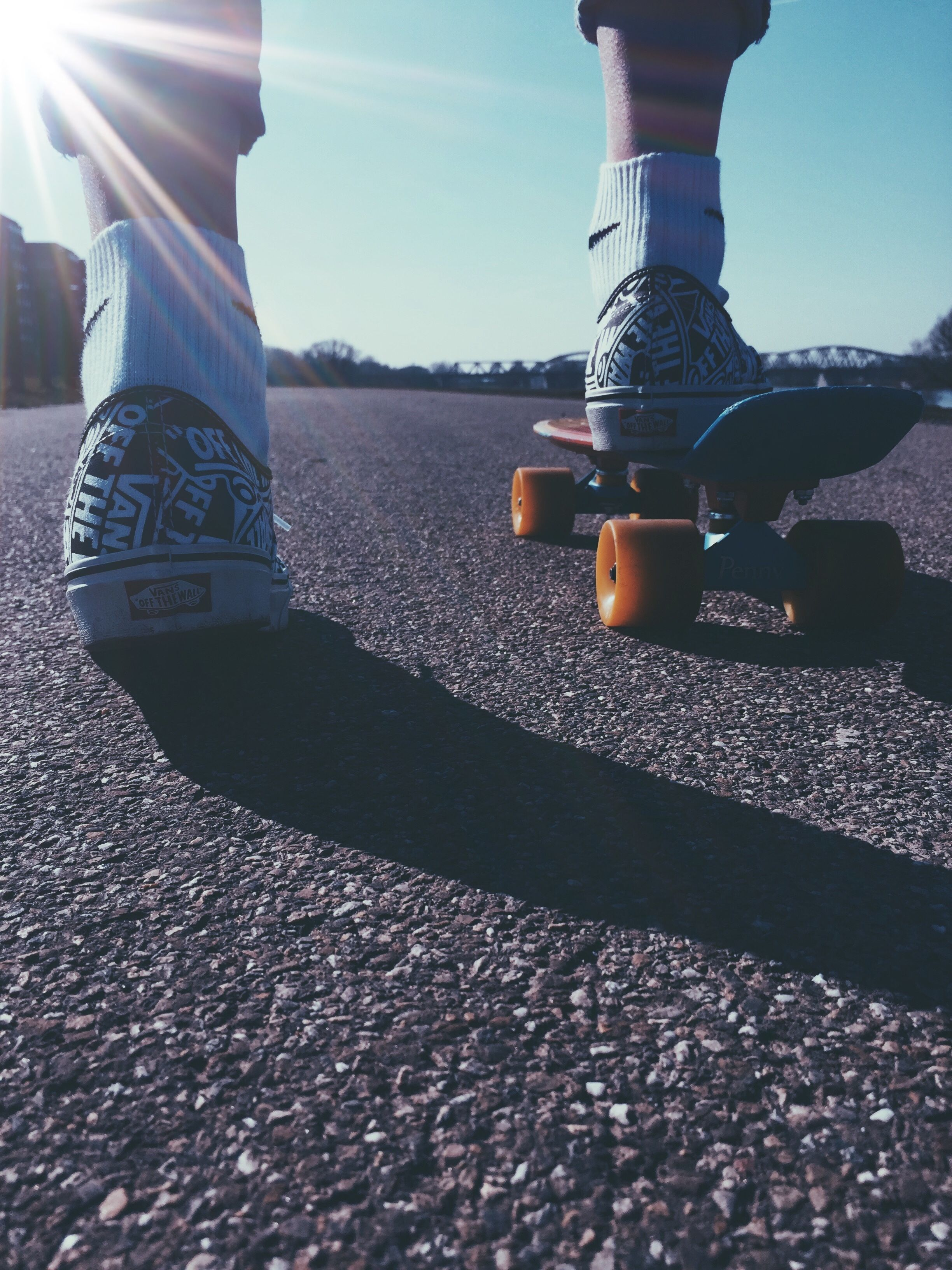 Vans Authentic With Penny Board Aesthetic Vans