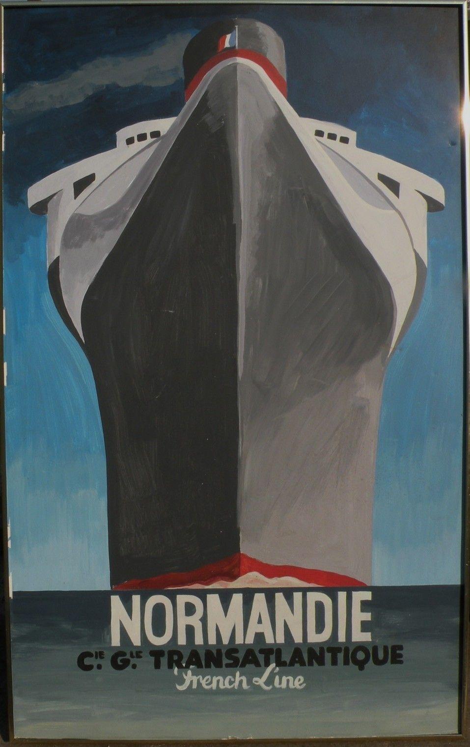 Travel memorabilia vintage painting after famous Art Deco ...