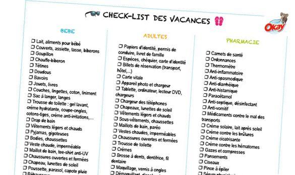Liste De Vacances A La Mer A Imprimer Pour Ne Rien Oublier