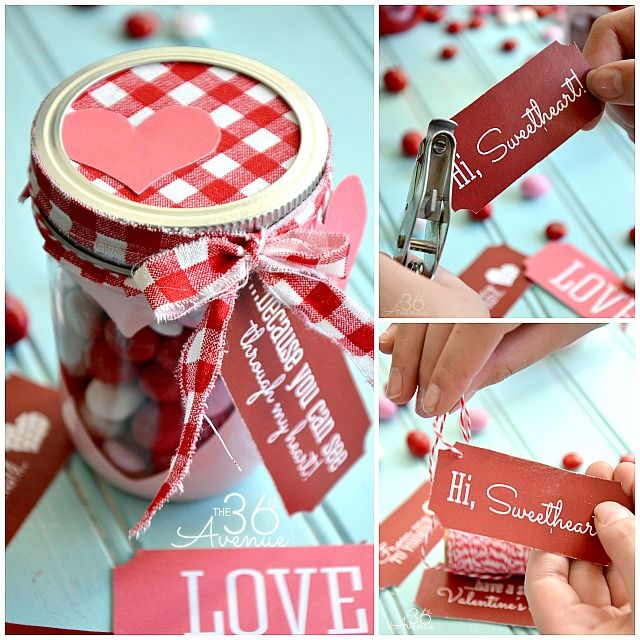 Free Valentine Printable and Heart Candy Jar | Jar, Tutorials and ...