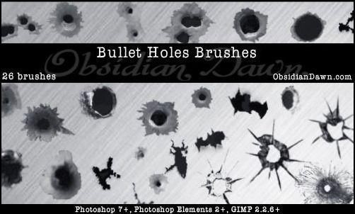 bullet-hole-brushes