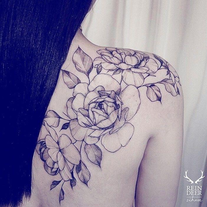 Best Shoulder tattoo flowers ideas on Pinterest Flower