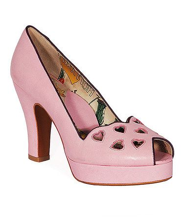 Look at this #zulilyfind! Lilac Heartbreaker Leather Pump #zulilyfinds