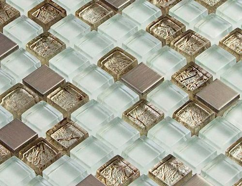 pastilha de vidro com metal - Pesquisa Google