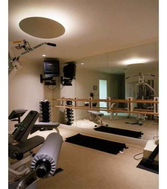 Basement Home Gym-Home And Garden Design Ideas