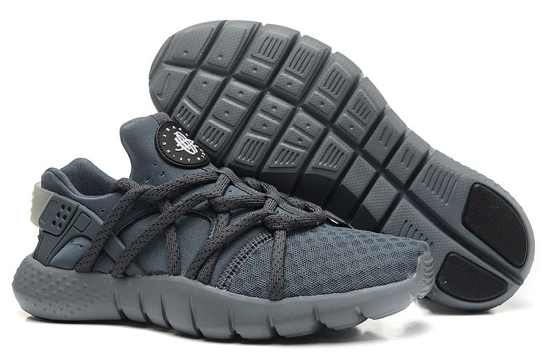 shoes womens sneakers wmns nike huarache nm charcoal graphite elephant grey on feet