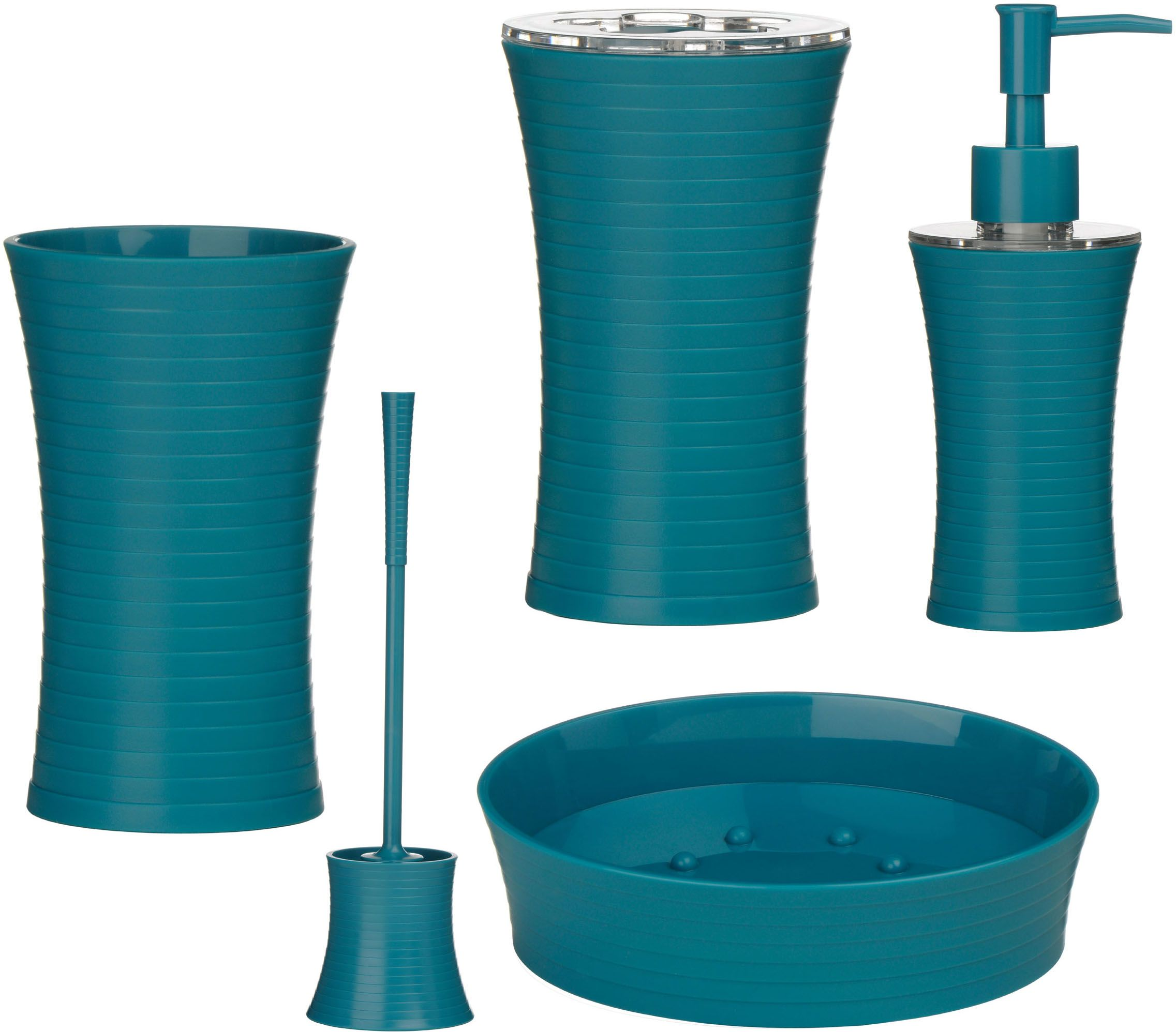 turquoise bathroom accessories 5pc bathroom accessories set turquoise made of plastic abs - Blue Bathroom Accessories Uk