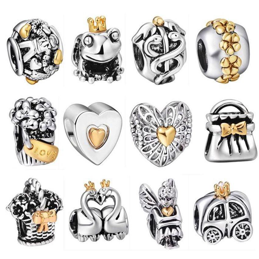 European DIY Beauty Charm pendant Bead For sterling S925 silver Bracelet Bangle