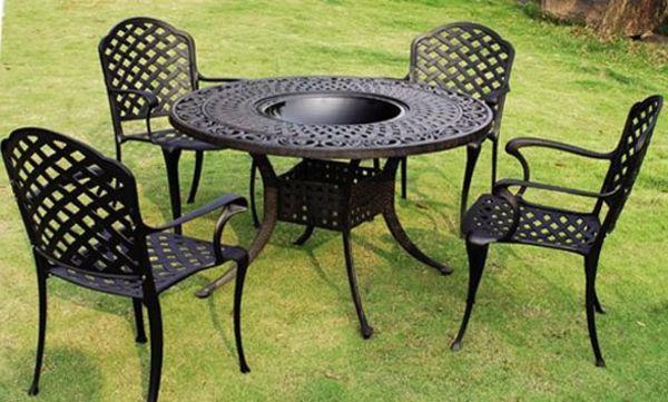 Gartenmobel Metall Pulverbeschichtet Minimalist Wohndesign
