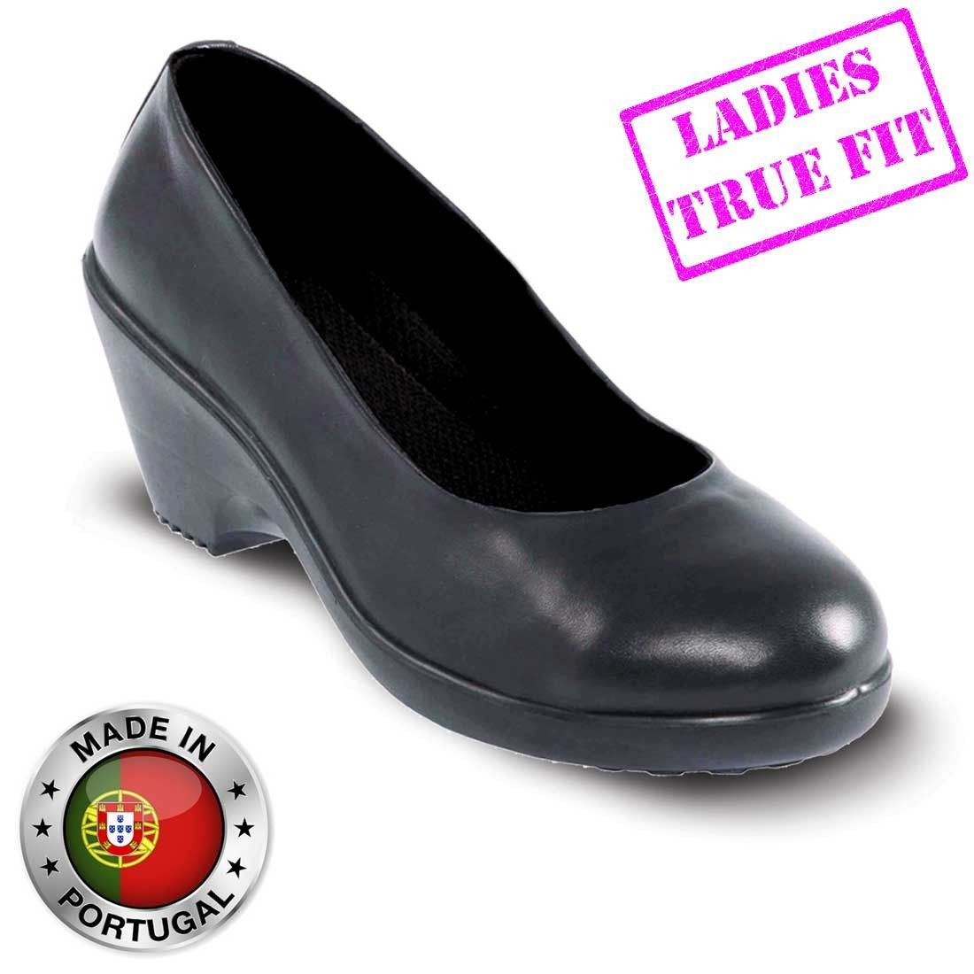 f4bd8149e73 Lavoro Grace ESD Executive Black Ladies Safety Court Shoes | Ladies ...