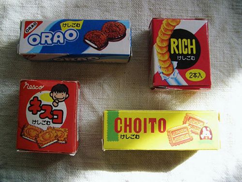 they are miniture food erasers created in japan
