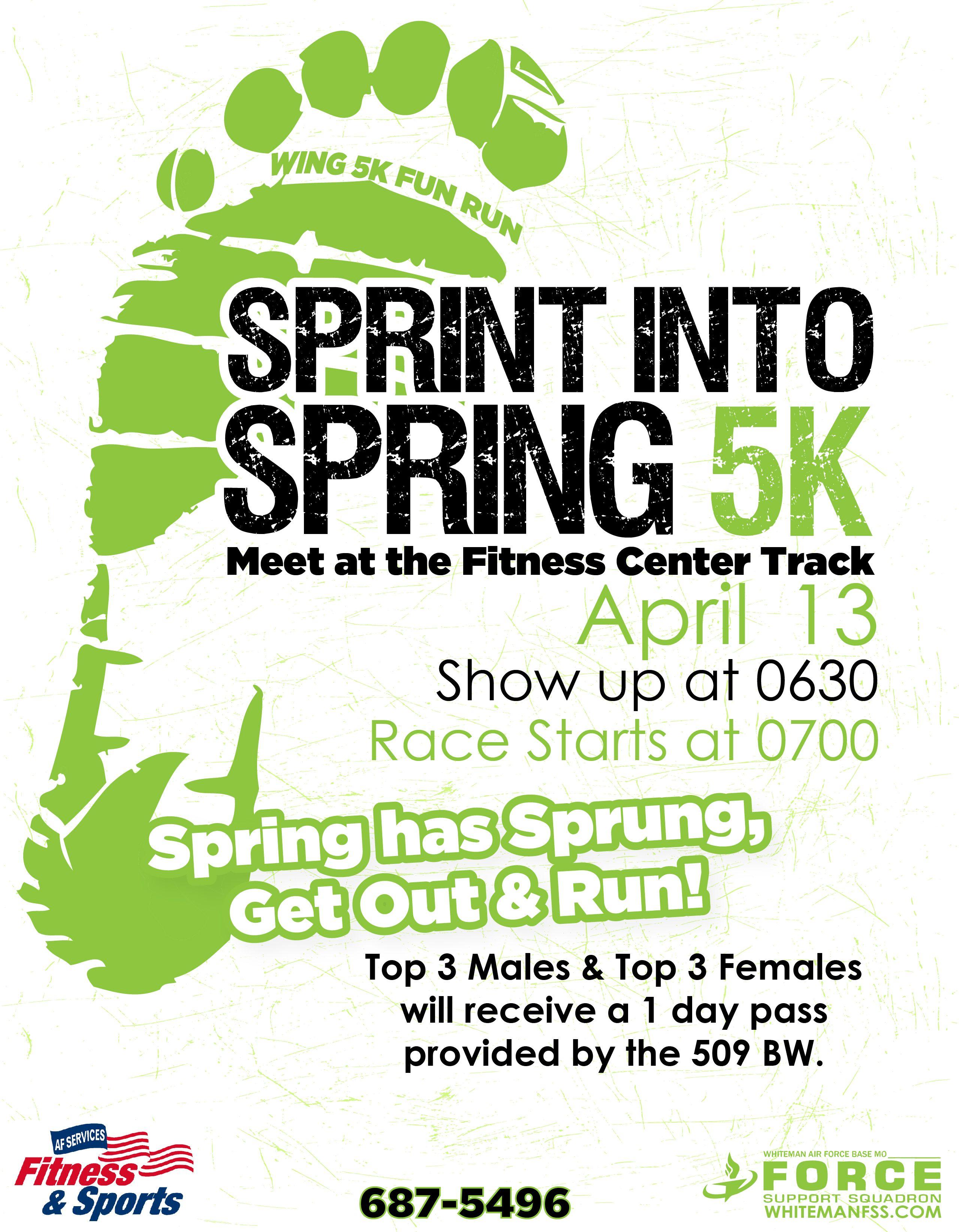 Spring Into 5k 10min Flyer Template Flyer Fun Run