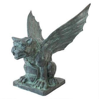 Winged Gargoyle of Naples Bronze Garden Statue $1,199.00