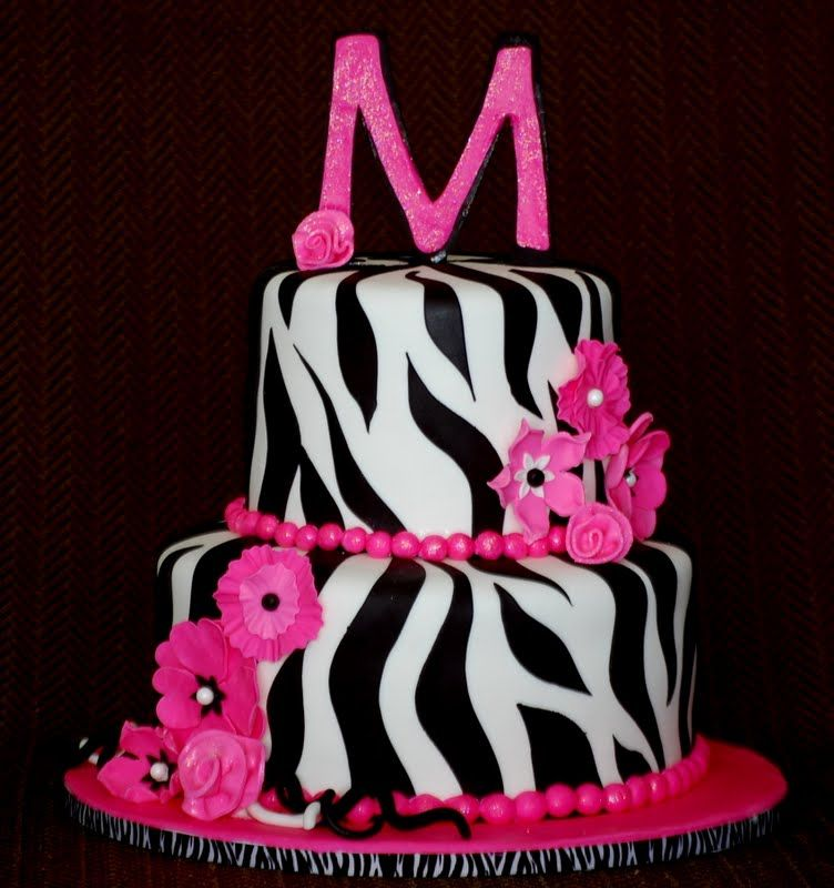 Baby Shower Cakes For A Girl Zebra Print Cakefilley Zebra Baby