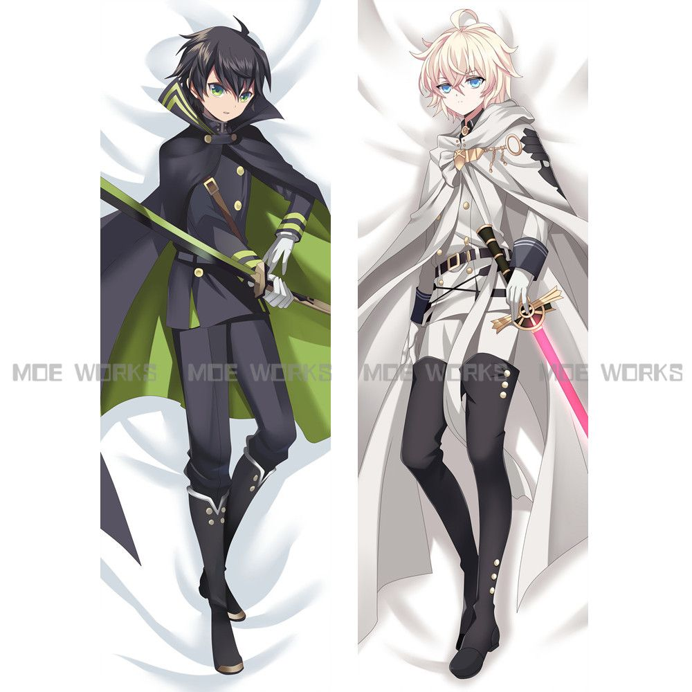 Hot japanese man anime long body pillow boys seraph of the end affiliate