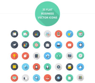 Download Flat Business Icon Set Free Psd This Icon Set Psd