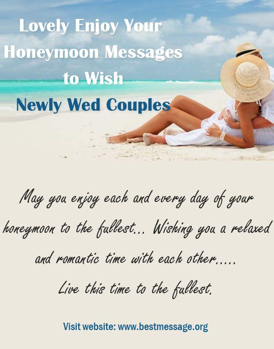 Lovely enjoy your honeymoon messages to wish newly wed couples send romantic enjoy your honeymoon wishes to the newlywed couple lovely collection of cute and romantic honeymoon quotes and status updates to share m4hsunfo
