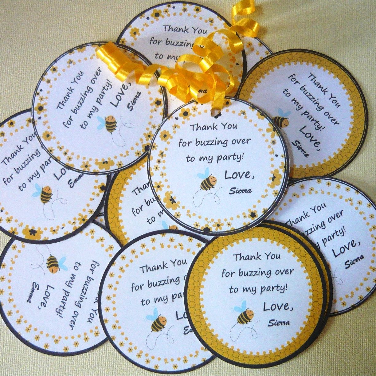Bumble Bee Tags, labels or stickers (2-3/4