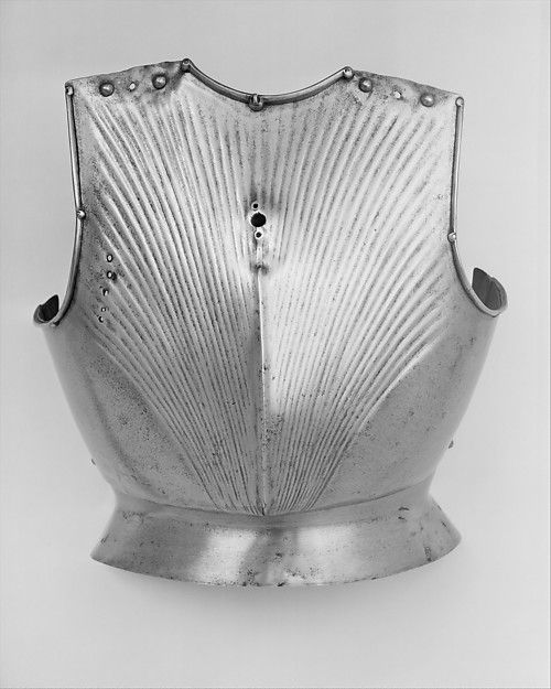 Breastplate  Date: ca. 1450 Culture: German Medium: Steel Dimensions: H. 16 in. (40.6 cm); W. 13 1/2 in. (34.2 cm); Wt. 5 lb. 4 oz. (23.8 g) Classification: Armor Parts-Breastplates Credit Line: Bashford Dean Memorial Collection, Bequest of Bashford Dean, 1928 Accession Number: 29.150.79