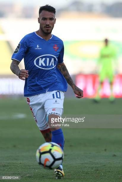 Os Belenenses Forward Diogo Viana From Portugal In Action During