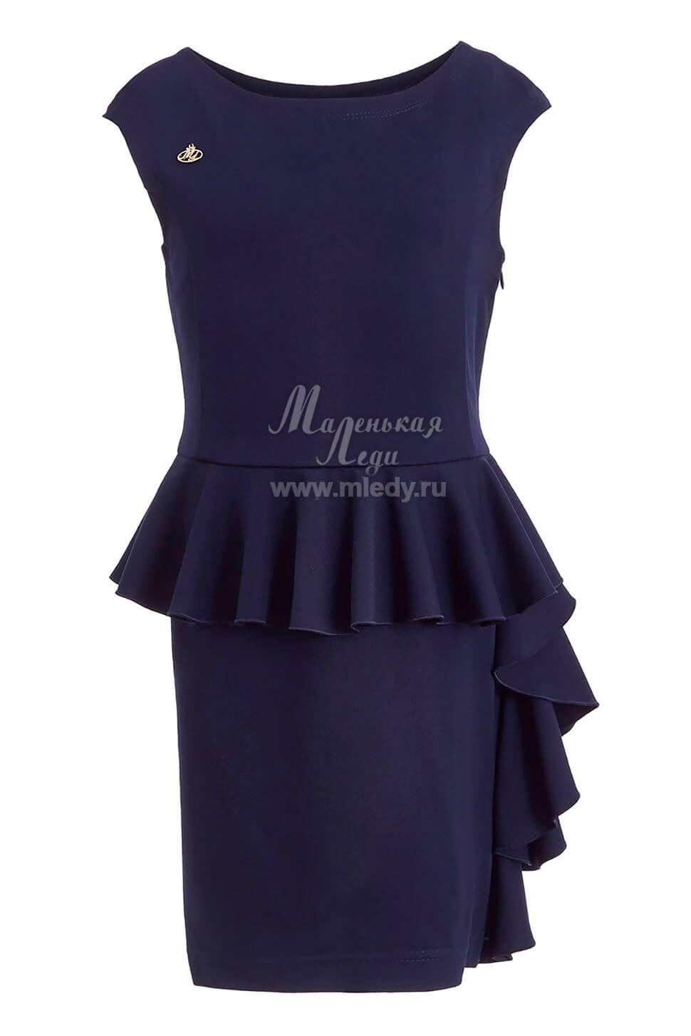 Платье школьное для девочки с длинным рукавом выкройка