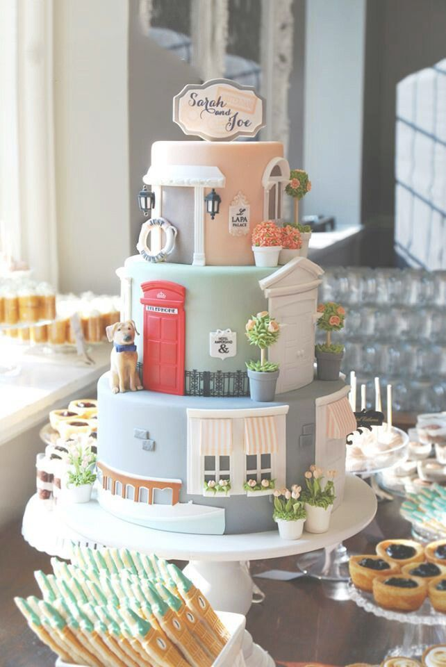 Just Married Home Inspired Wedding Cake Tower - #Cake #Home #Inspired #Just #Married #Tower #Wedding