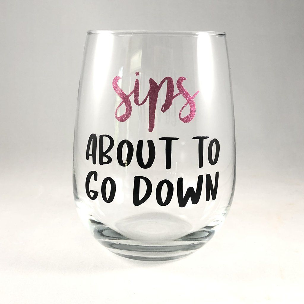 Sips About to go Down Wine Glass