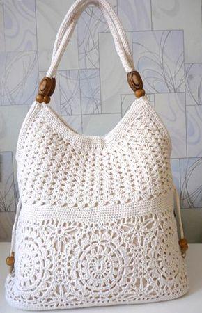 126de4d830e5 Вязание сумок крючком со схемами - сумка белая | Вязание | Crochet ...