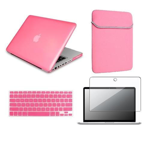 INSTEN 4in1 Crystal Hard Case KB Skin Clear film Sleeve For Macbook PRO 13 A1278 Pink  Review Buy Now