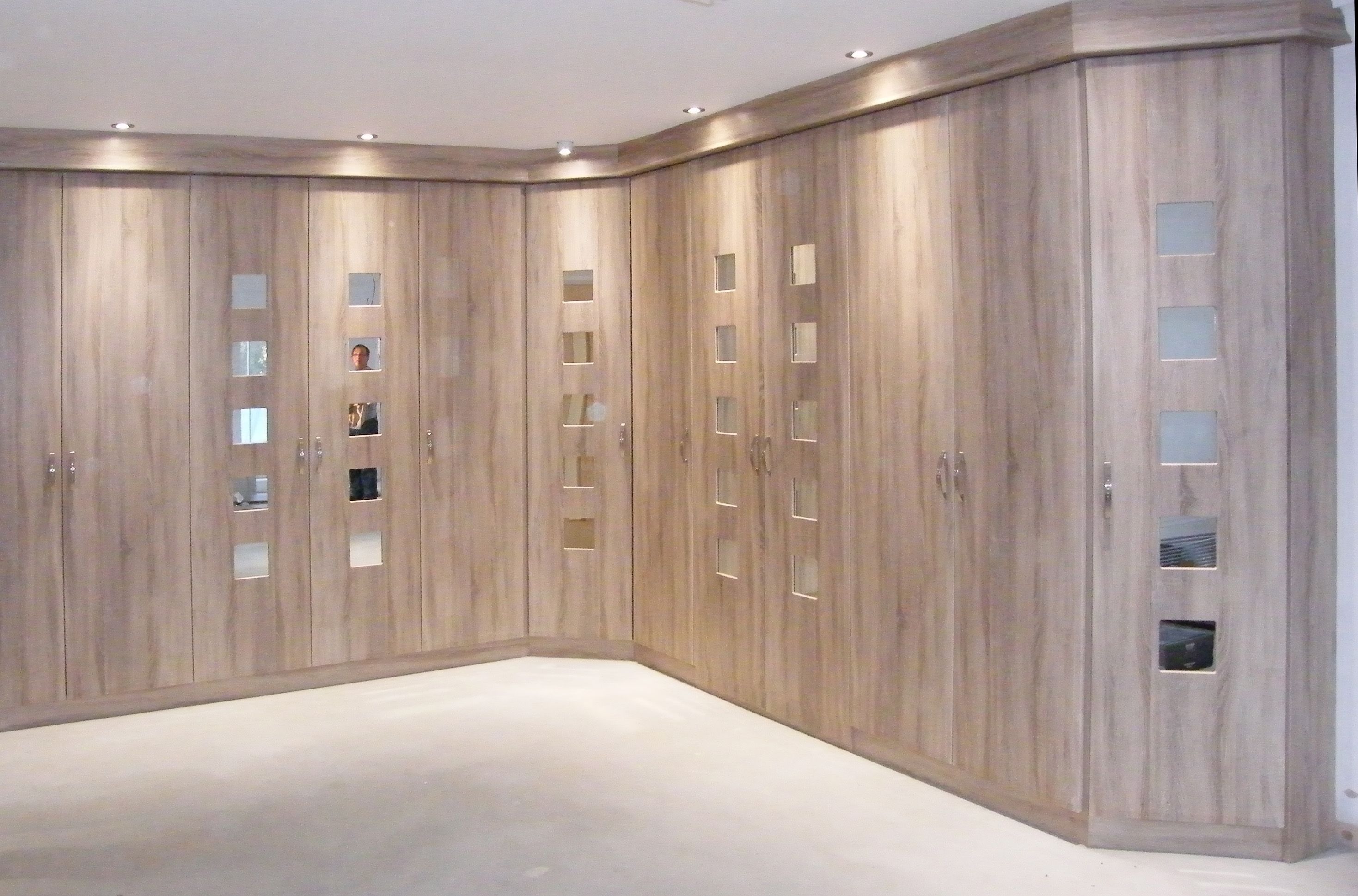 Bedroom Built In Wardrobe Designs Contemporary Fitted Wardrobe Design With Wooden Style Doors For