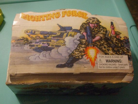 Vintage Fighting Force Box of Plastic Soldiers 144 in by PAULIE22, $10.00