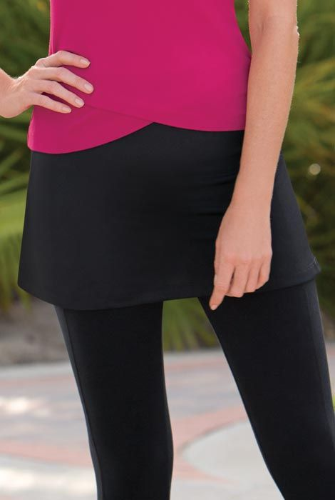 This sport skirt in performance mesh offers breathable coverage!