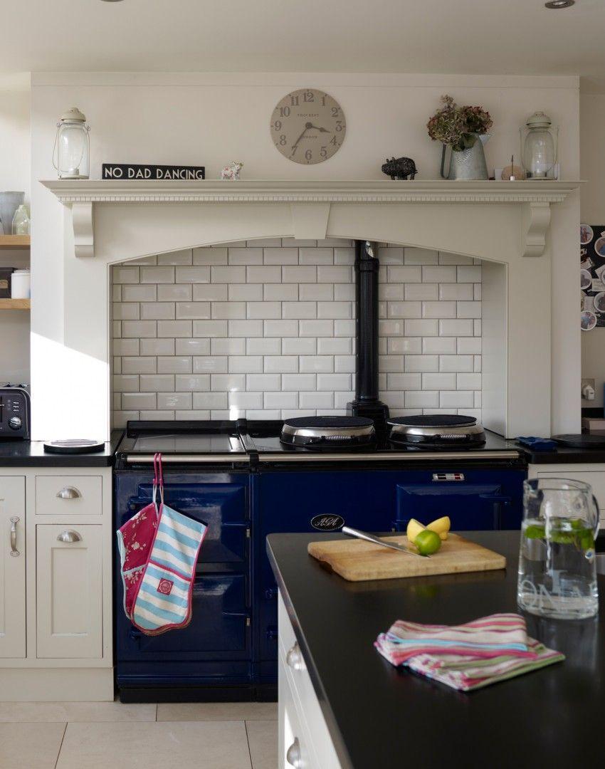 Traditional cream kitchen with blue Aga | hogar | Pinterest | Aga ...