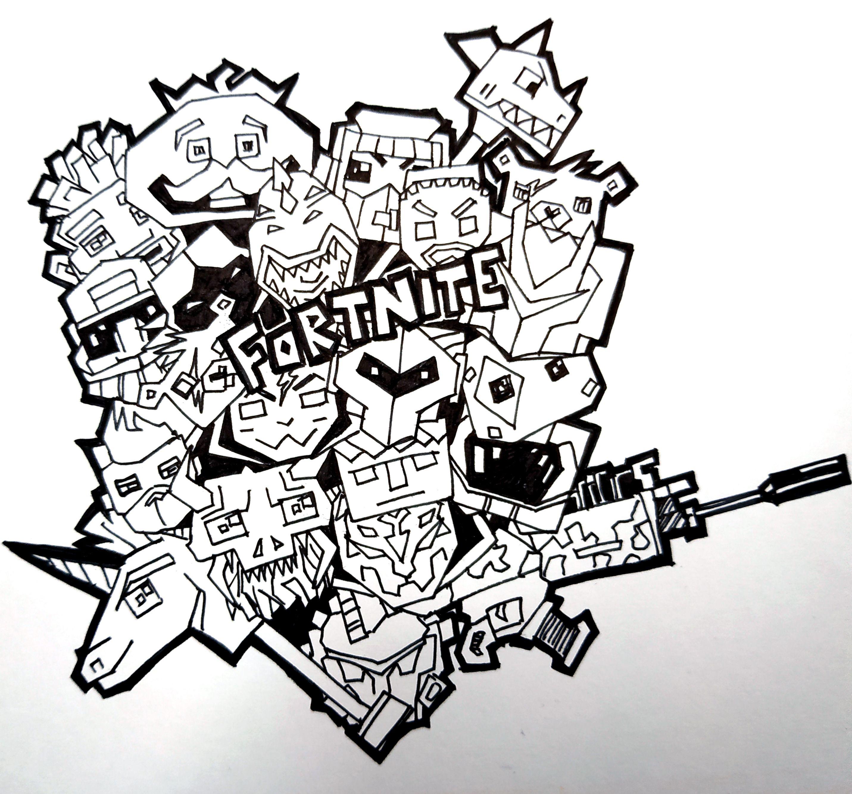 Fortnite Doodle Art Asmr Fortnite Doodleart Asmr Doodle Asmrdrawing Coloriage A Colorier Coloriage Gribouillages Artistiques