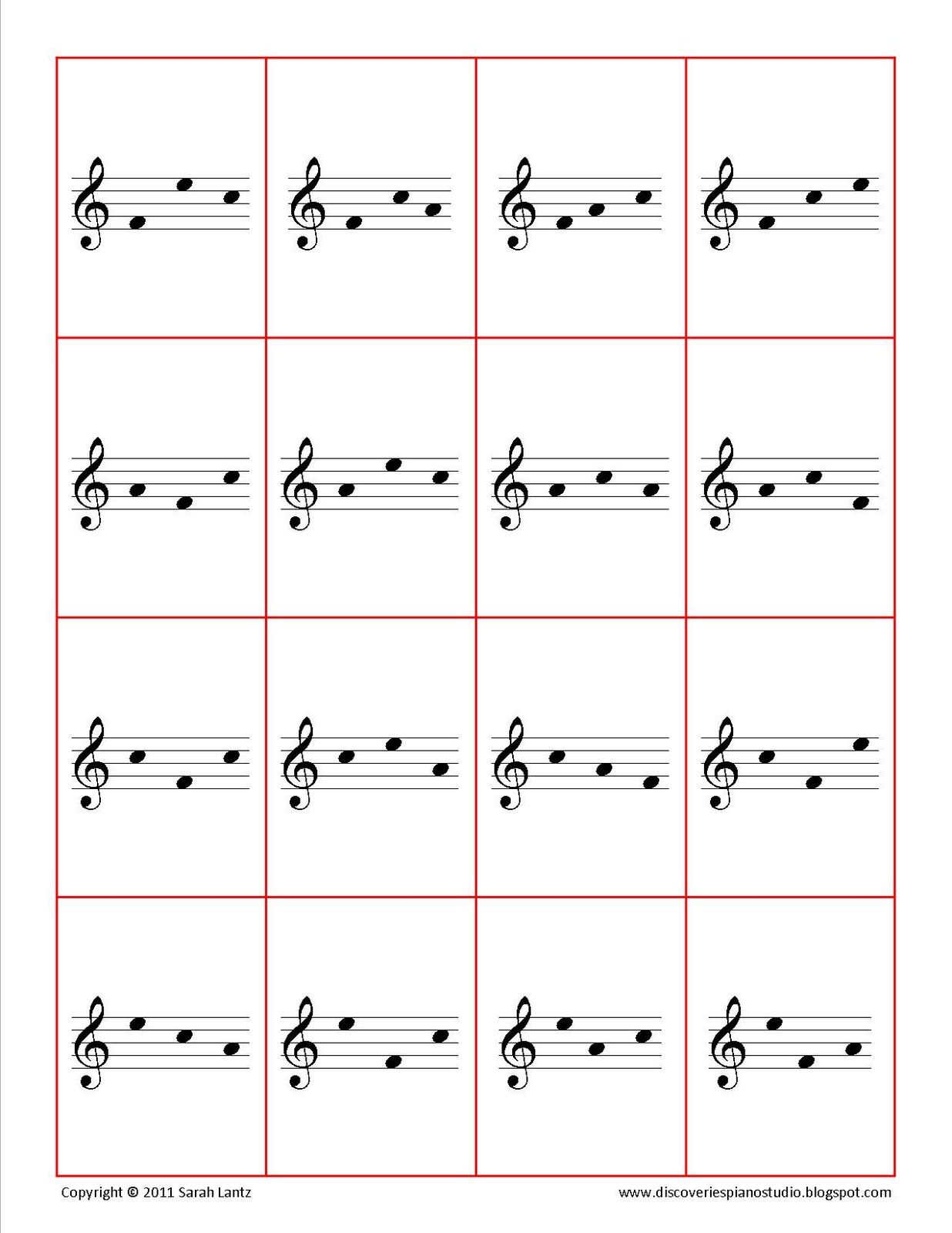 Face Flashcards For Treble And Bass Clef
