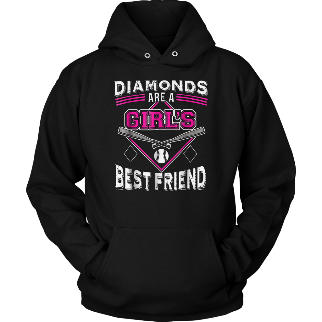 7917638f Funny Softball t-shirt - DIAMONDS ARE A GIRL'S BEST FRIEND T-Shirt – Teefig
