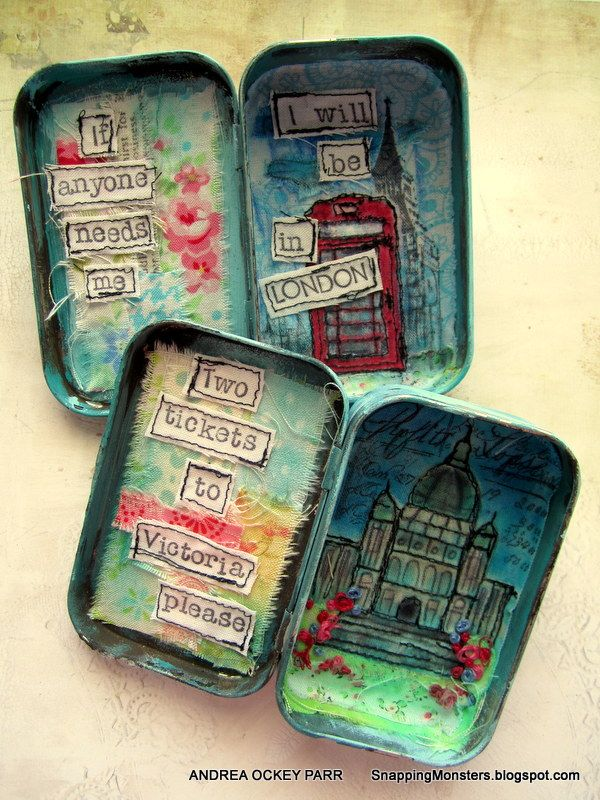 Snapping Monsters: My Other Creations: Travel Tins