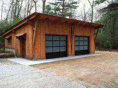 Garages With Sloped Roofs Timber Frame Garage Building A Shed Garage Plans