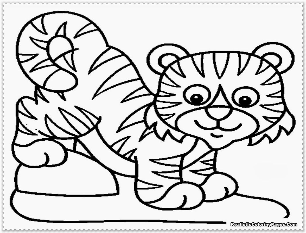 tiger coloring page 04  Preschool  Pinterest  Coloring pages