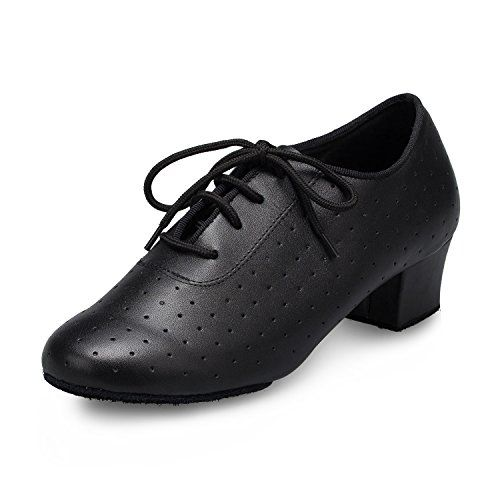 MINITOO Womens Dance Shoes Lace-up Latin Ballroom Boots