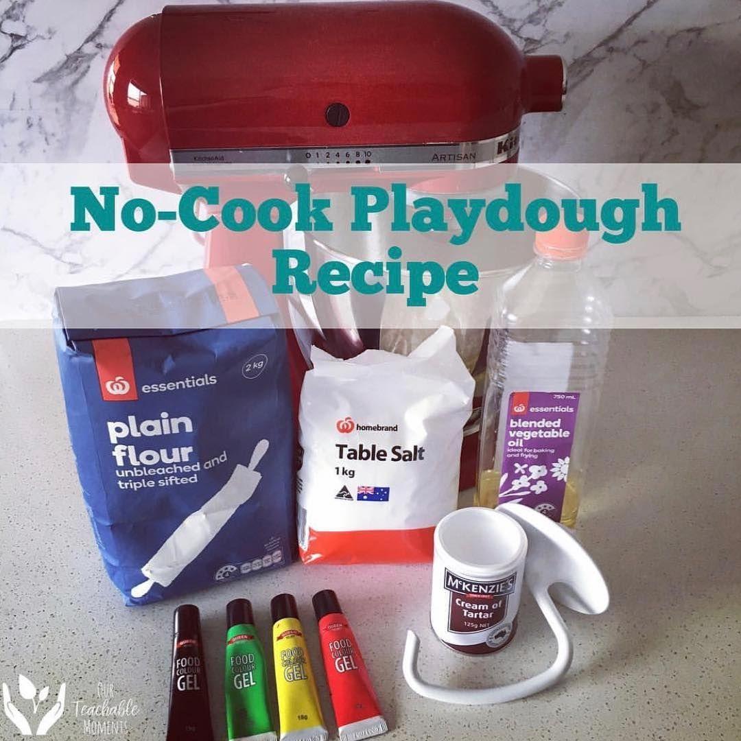 PLAYDOUGH RECIPE • 2 cups Plain Flour 1 cup Salt 4 tbs